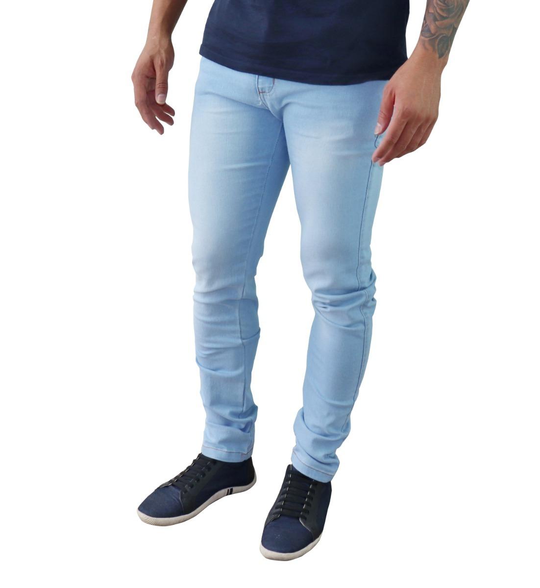 852e974bf Kit Com 3 Calça Jeans Sarja Masculina Skinny Slim Com Lycra - R$ 118 ...