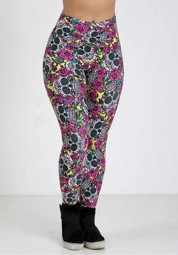 aa524970a Kit Com 3 Calça Legging Leg Colorida Lindas Fitness + Brinde - R$ 57 ...