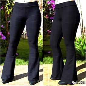 fa672b9cb Calça Flare Tecido Grosso Plus Size - Calçados, Roupas e Bolsas no Mercado  Livre Brasil