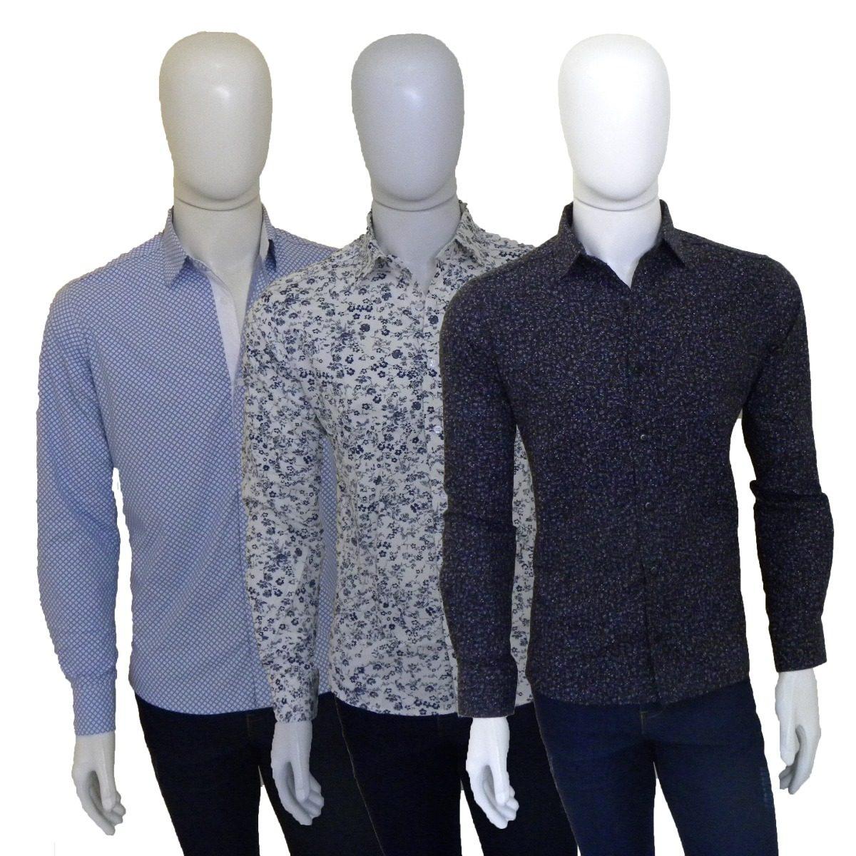 4d637faa53 ... camisas sociais masculinas estampadas slim fit. Carregando zoom.