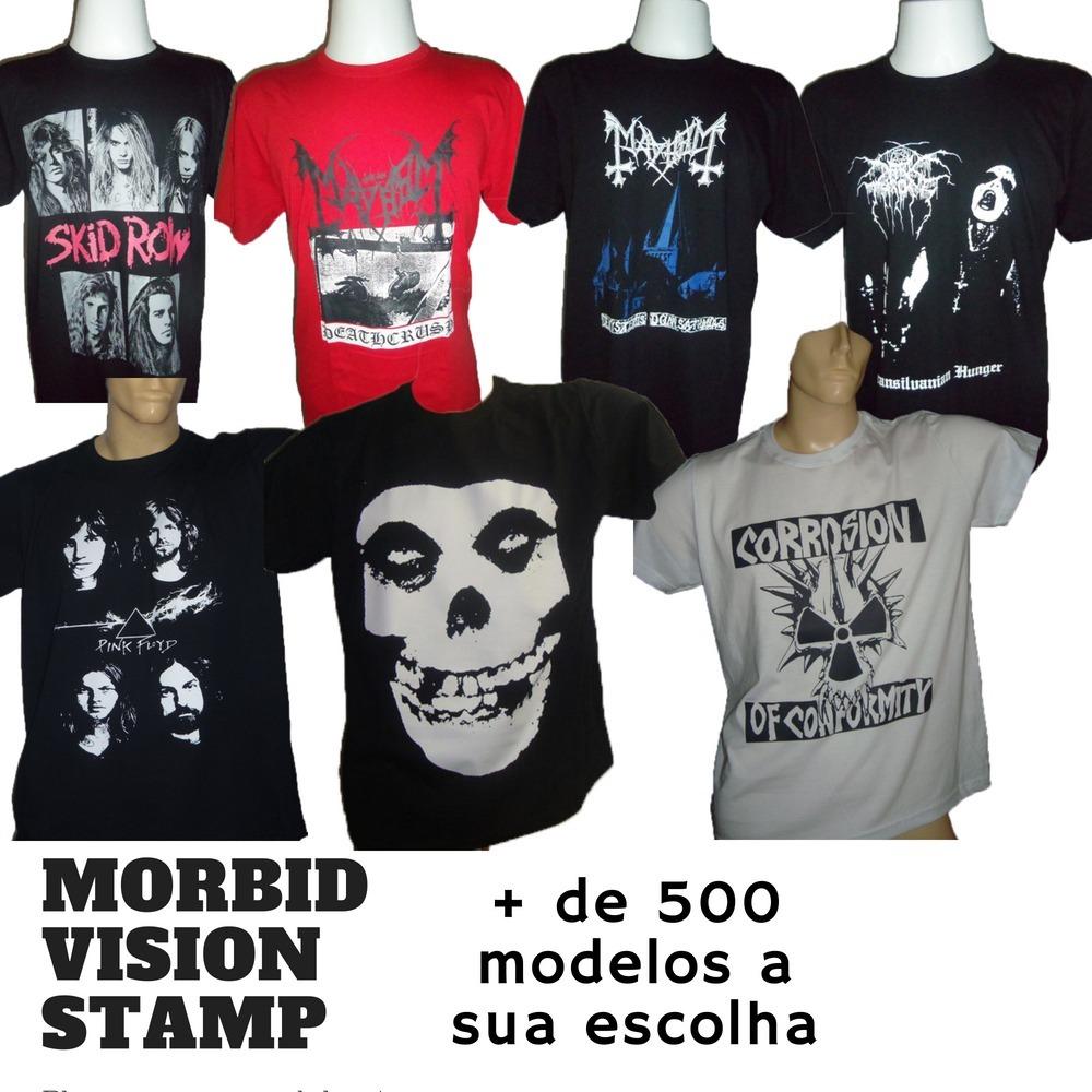 Kit Com 3 Camisetas - Bandas De Rock - Frete Grátis -algodão - R ... 6ee14296a4b42