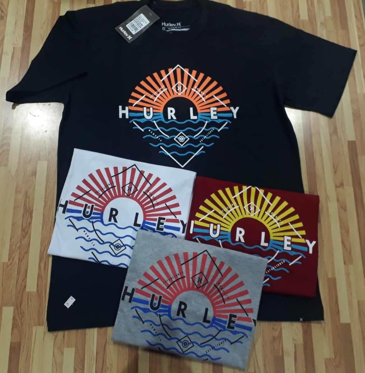 kit com 3 camisetas hurley - super oferta. Carregando zoom. c4756e08ada