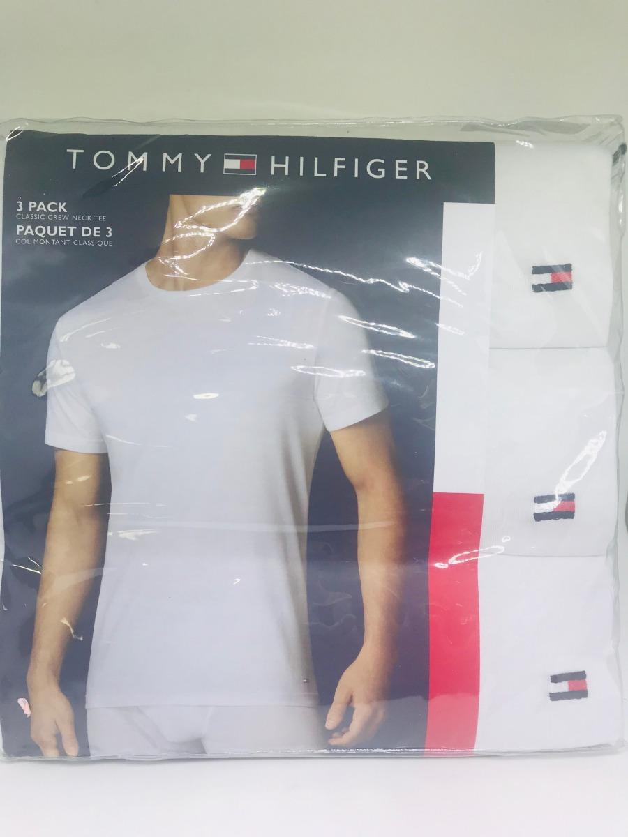 0e5dd7769d25 Kit Com 3 Camisetas Masculinas Tommy Hilfiger G Branca