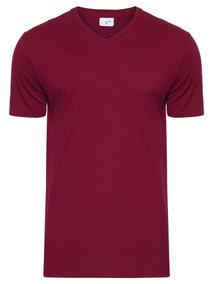 a555ee0f78 Camiseta Vinho Gola V - Calçados