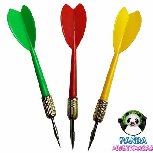 kit com 3 dardos com pontas agulha para tabuleiro