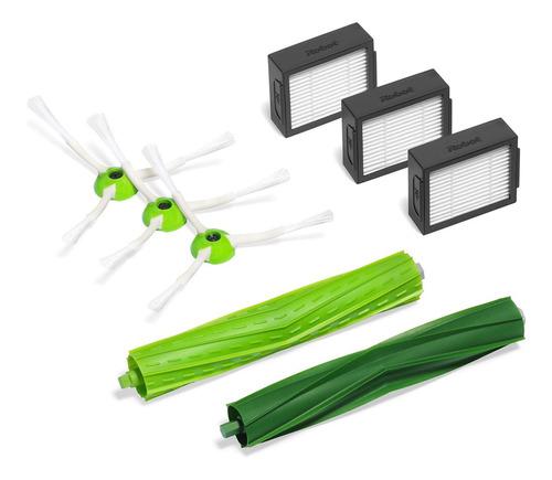kit com 3 escovas laterias, 3 filtros e 2 escovas emborracha
