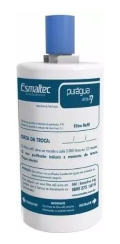kit com 3 filtros do purificador esmaltec  acqua 7 original