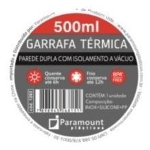 kit com 3 garrafas térmicas inox premium 500|750|1000ml