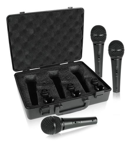 kit com 3 microfones xm1800s - behringer maleta xm 1800 s