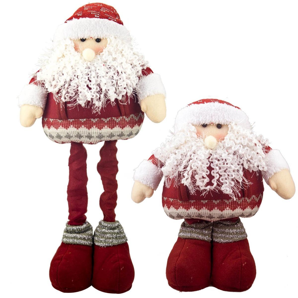 Kit Com 3 Papai Noel 1624a Natal 50cm Pernas Telescópicas R 239