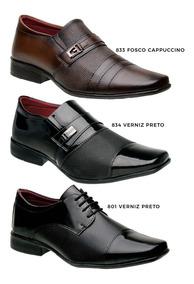 51107e2ef Sapatos Direto Da Fabrica Em Jau Sociais Masculino - Sapatos Sociais e Mocassins  Sociais para Masculino Preto com o Melhores Preços no Mercado Livre Brasil