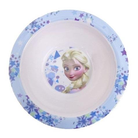 kit com 3 pratos em melamina frozen elsa anna disney gedex