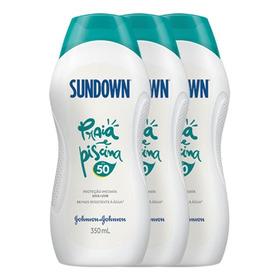 Kit Com 3 Protetor Solar Sundown Praia E Piscina Fps 50
