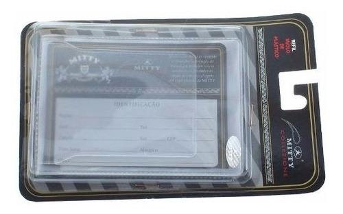 kit com 3 refil para carteira mitty plástico 6 div- plm1