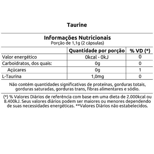 kit com 3 taurine 550mg vitafor 60 cáps