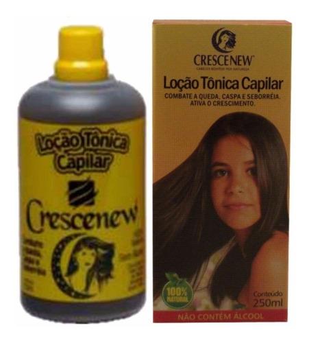 kit com 3 tônicos capilar antiqueda de cabelo crescenew