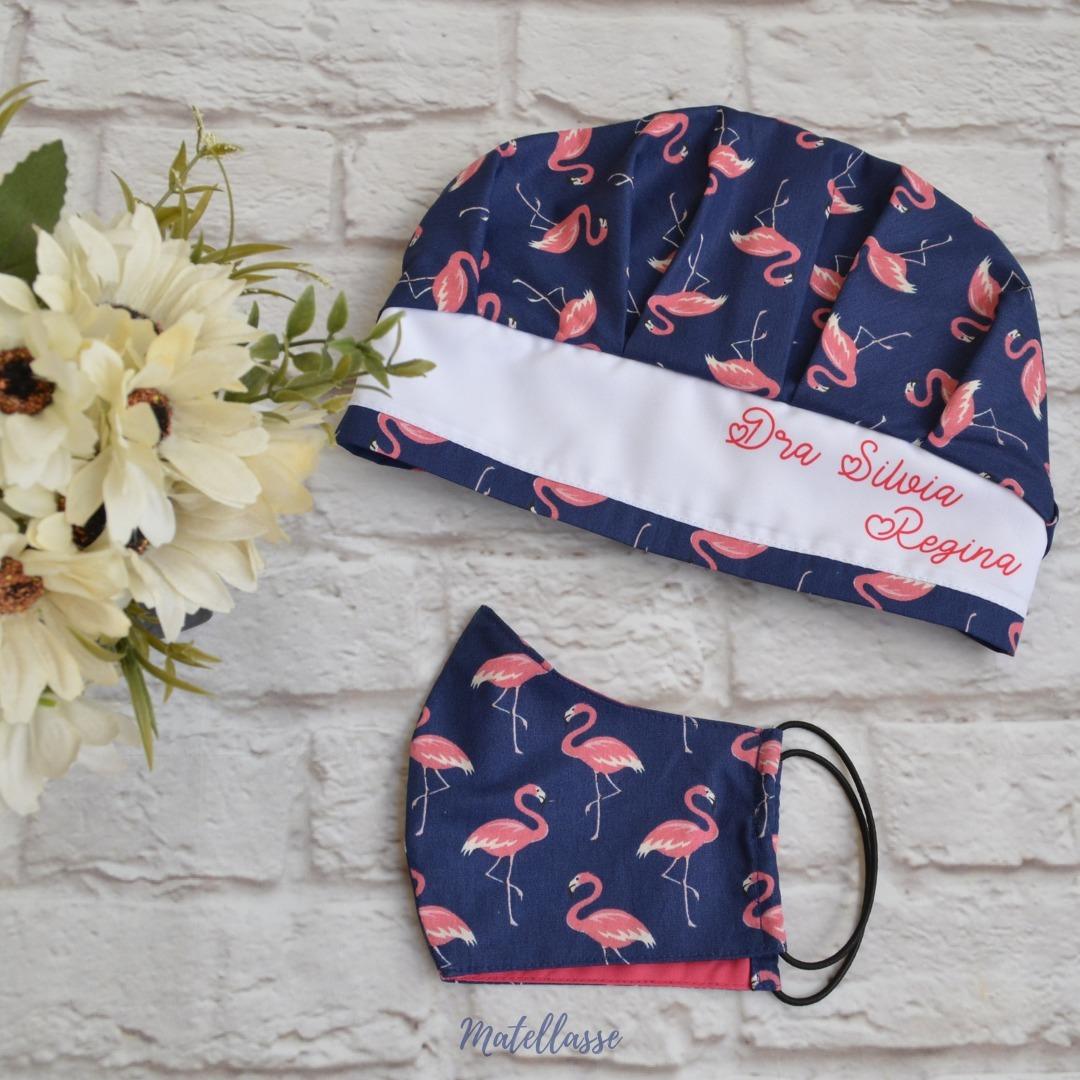 Kit Com 3 Toucas Personalizadas + 3 Mascaras Cirúrgicas - R$ 149 ...