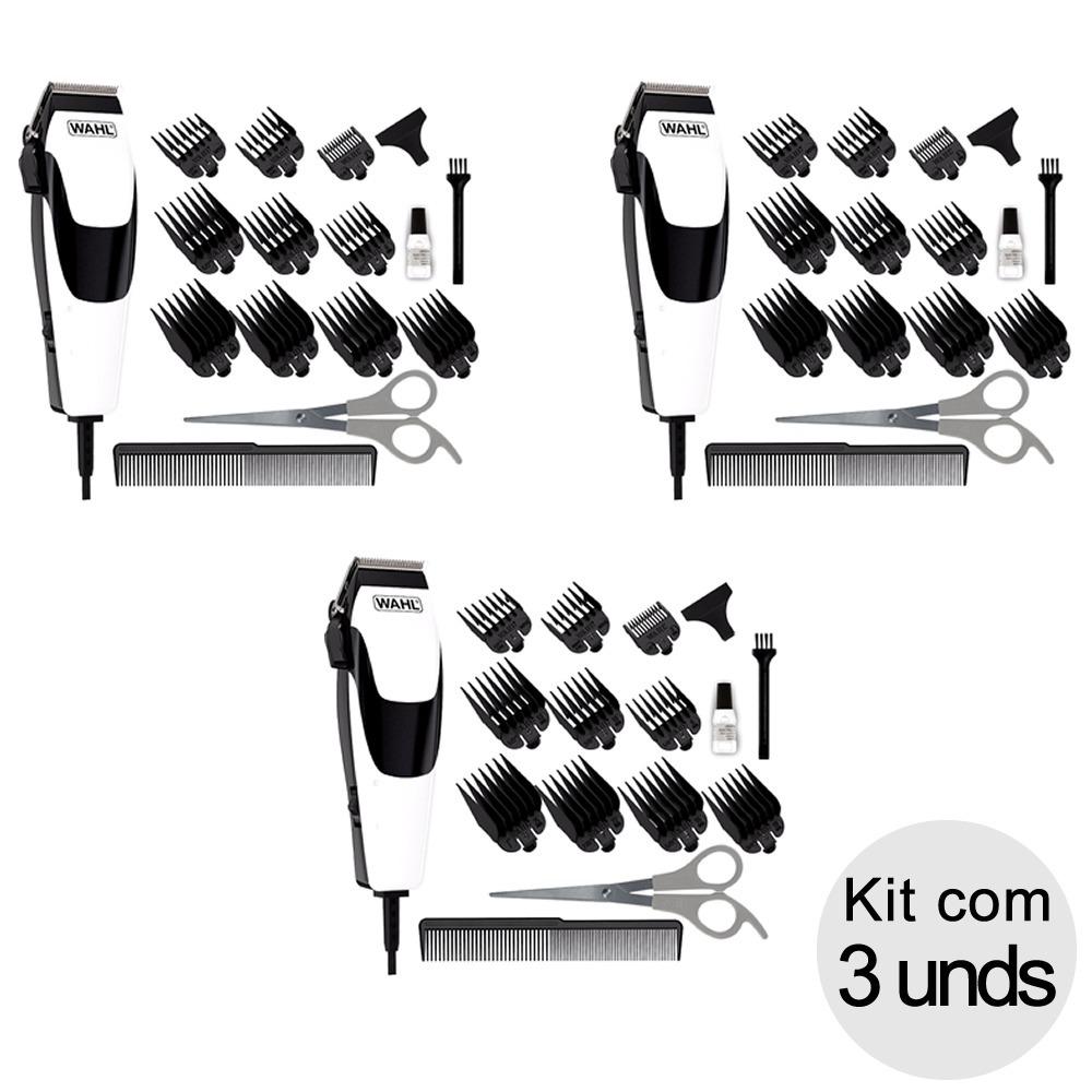 b8d189e33 Kit Com 3 Unds Máquina De Cortar Cabelo Wahl Quick Cut 110v - R$ 369 ...