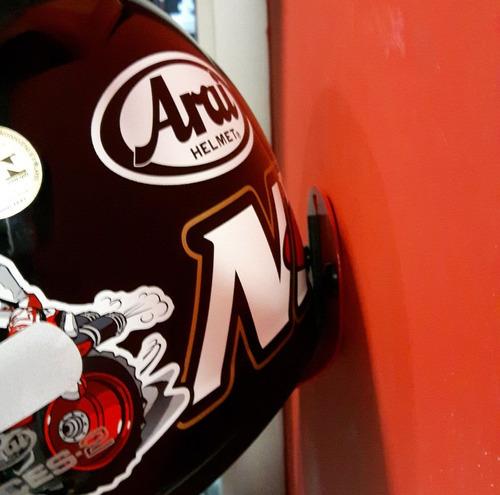 kit com 3 unidades do suporte de parede para capacete moto