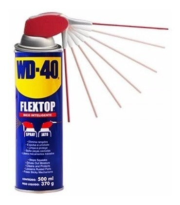 kit com 3 wd-40 desengripante/óleo 500ml flextop- 340847