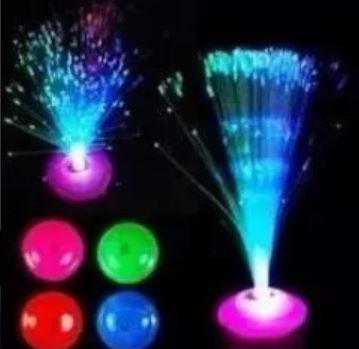 kit com 30 abajur de fibra ótica decoração de festa - neon