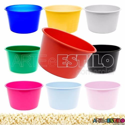 kit com 30 baldes de pipoca, cachepô enfeite de mesa 1 litro