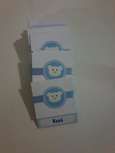 kit com 30 convites personalizados ursinho