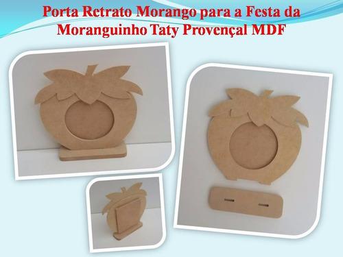 kit com 30 porta retrato da moranguinho taty provençal mdf