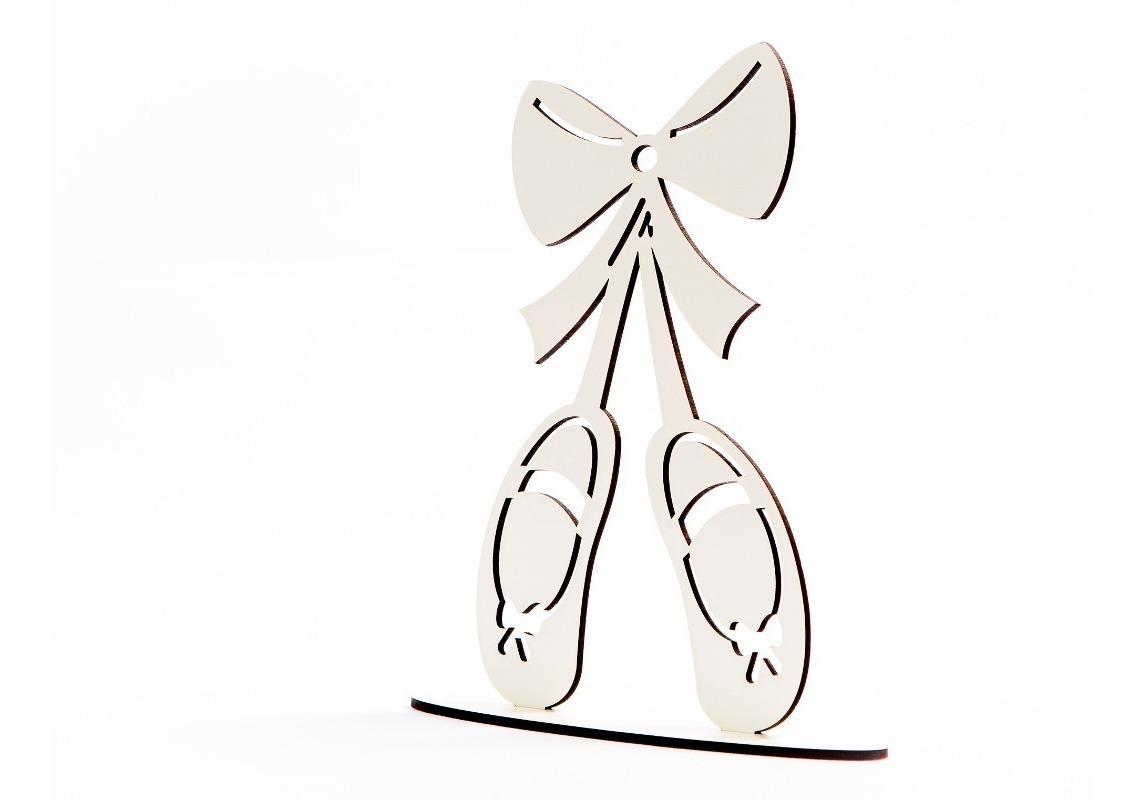 Kit Com 30 Sapatilhas Bailarinas 20cm Corte Laser Mdf Branco R