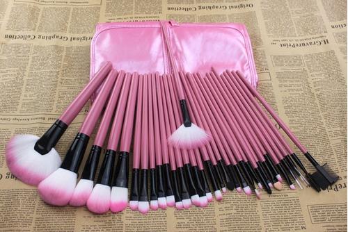 kit com 32 pincéis maquiagem profissional a pronta entrega