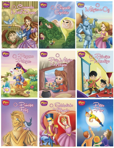 kit com 35 mini clássicos - livros infantil