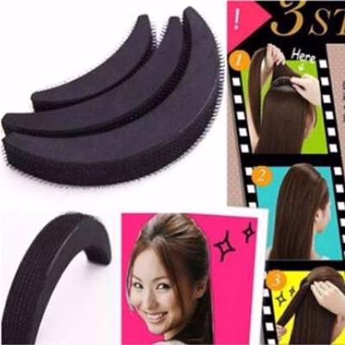 kit com 4 acessórios de cabelo - coque - bumpits - shang du