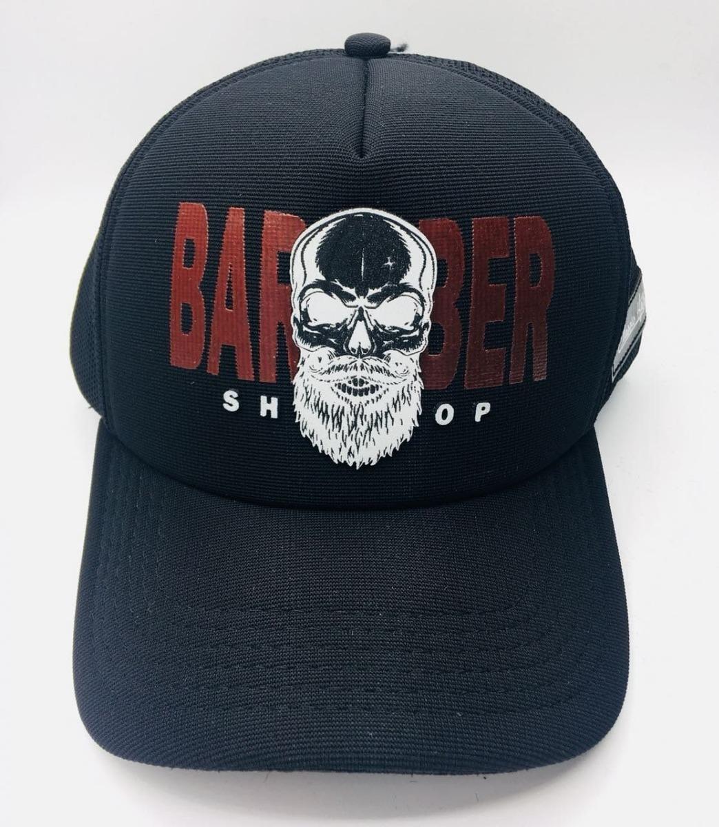 b101b16de973f Kit com bonés barber shop barbeiro trucker tela barbearia em mercado livre  jpg 1044x1200 Bones barber
