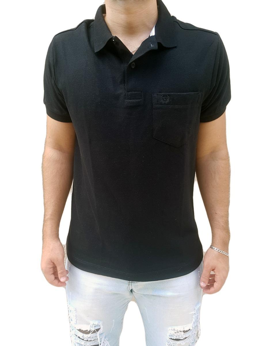 Kit Com 4 Camisas Polo Masculina Piquet Com Bolso Promoção - R  150 ... 6ad6f37493567