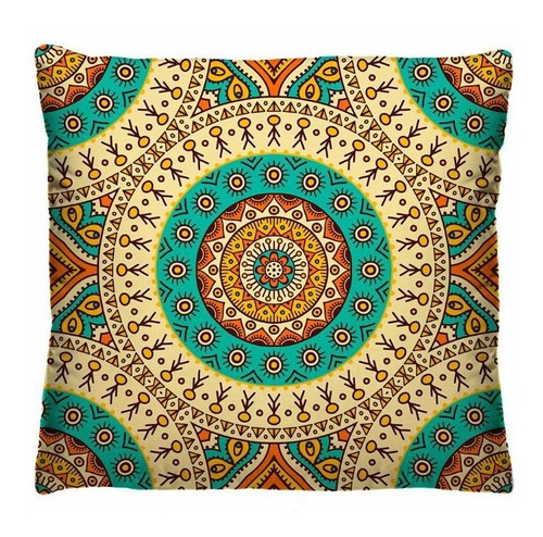 kit com 4 capas de almofadas decorativas coloridas mandala
