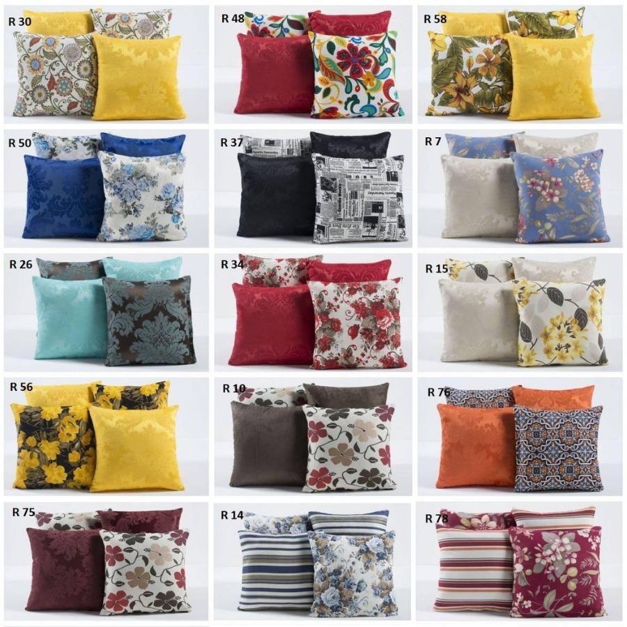 b5c407100 kit com 4 capas para almofadas decorativas de sofá coloridas. Carregando  zoom.
