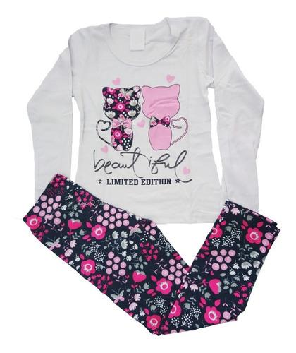 kit com 4 conjunto roupa infantil juvenil menina inverno tamanho 10 12 14 manga longa com calça legging leg atacado top