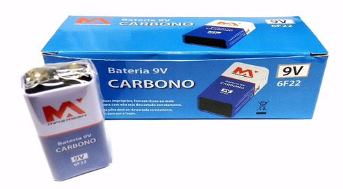 kit com 4 cx bateria 9v hw 6f22 caixa com 10 pc total 40 bat