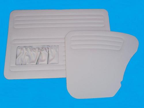kit com 4 forros laterais p/ fusca até 1977 branco (4 peças)