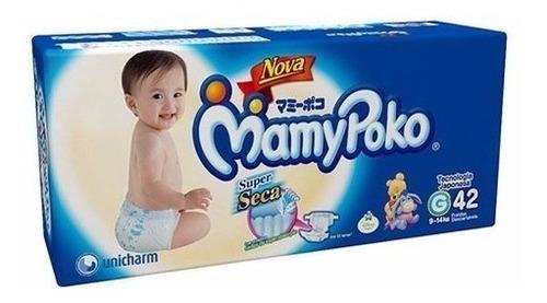 kit com 4 fraldas descartável infantil mamypoko atacado p