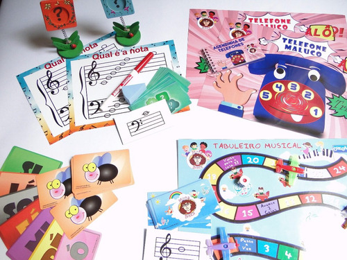 kit com 4 jogos de música - mirka brinca com 25% off