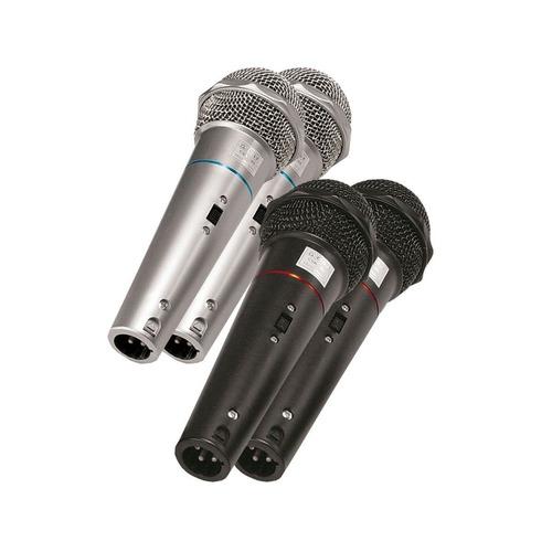 kit com 4 microfones de mão voxcsr505kit4 dinâmico voxtron