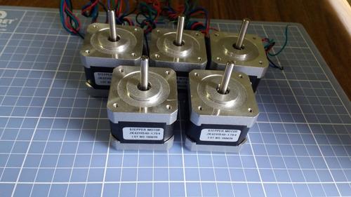 kit com 4 nema 17 - motor de passo 4kgf - p/ impressora 3d