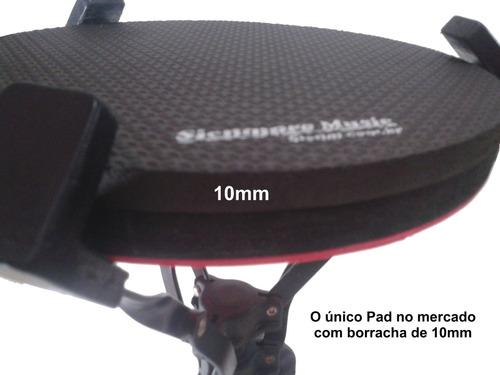 kit com 4 pads de estudo bateria 10 polegadas - frete grátis