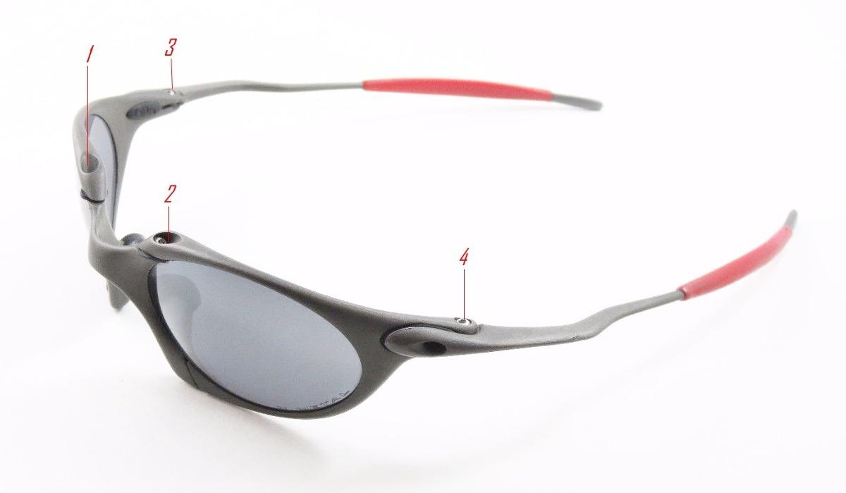 664047b52c kit com 4 parafusos oculos oakley romeo 1 + borracha preta. Carregando zoom.