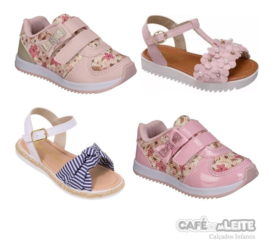 309cf2d41 Kit Com 4 Pares Calçados Infantil Feminino - R$ 159,60 em Mercado Livre