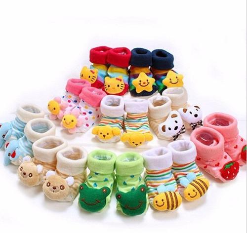 kit com 4 pares sapatinho bebê pantufa meia antiderrapante