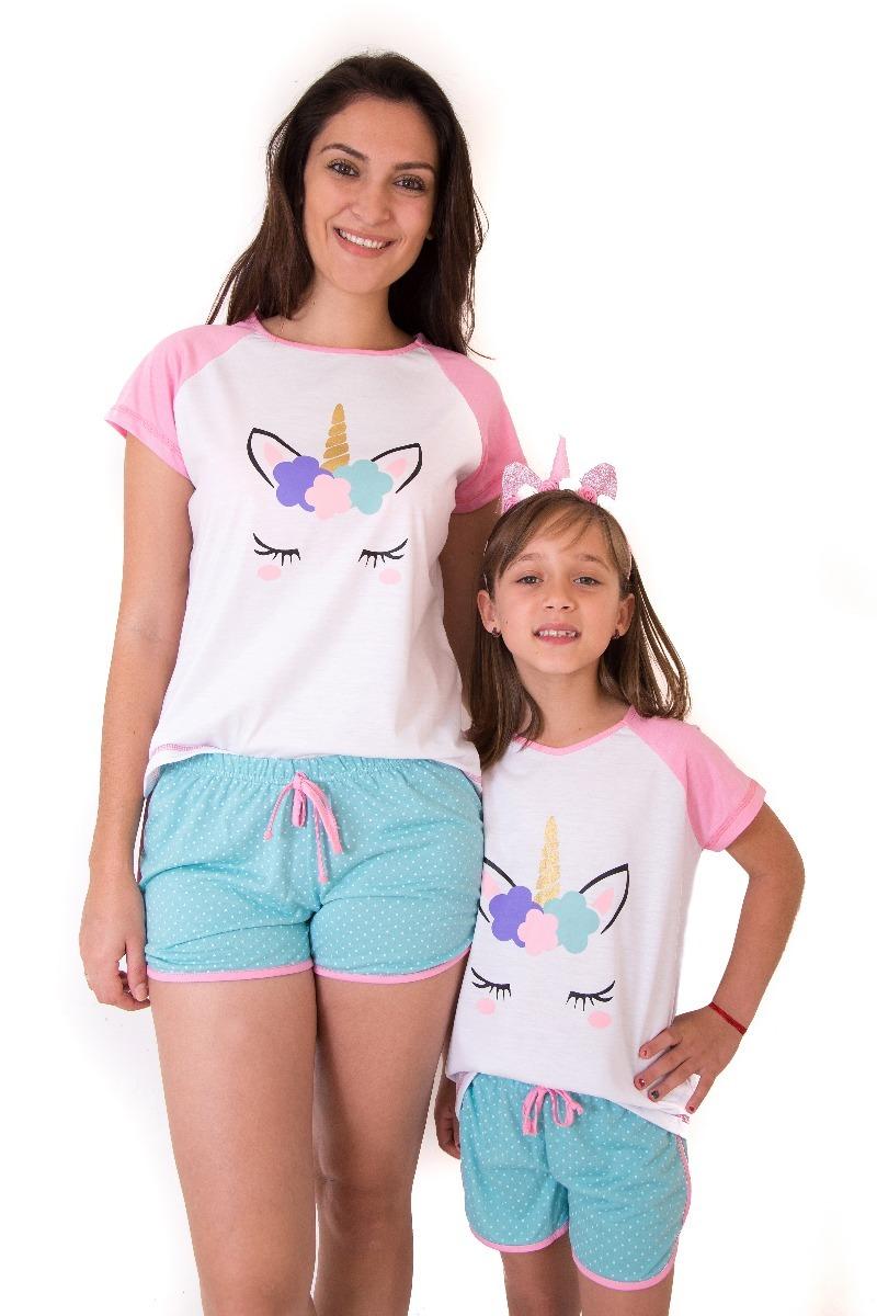 0d832b75a ... pijamas de unicornio feminino curto short doll. Carregando zoom.