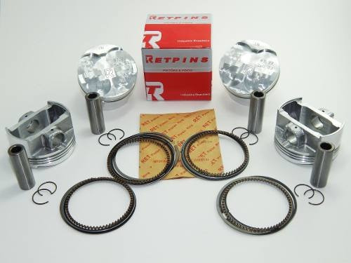 kit com 4 pistão e anéis ret 0,25 hornet 600 2008 até 2012