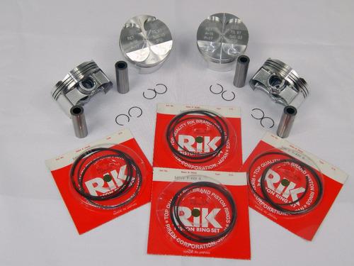 kit com 4 pistão e anéis rik std cbr 929
